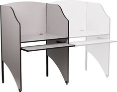 45% Off was $200.00, now is $109.54! Flash Furniture MT-M6201-GY-GG Starter Study Carrel in Nebula Grey Finish, Gray