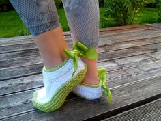 Knitted Slippers/ Hand Knit Warm Slippers/ by NataNatastudio