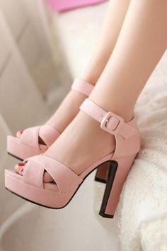 066c89572e2c Stylish Buckle Design High Heels Fashion Sandals