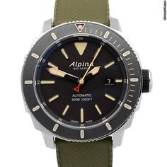 Alpina Seastrong Diver 300 Automatic Watches For Men, Leather, Accessories, Fresh, Jewelry, Wristwatches, Clock, Gents Watches, Jewels