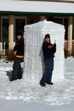 Snow TARDIS They should be so proud.