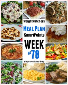 Weight Watchers Meal Planning Made Easy & Free, with ideas for breakfast, lunch, dinner, dessert and snacks with SmartPoints to guide you