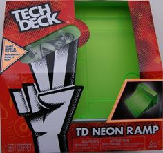 9367036f4f7 Spinmaster Tech Deck Neon Ramp, Green Quarter Pipe $11.95 (save $3.04)