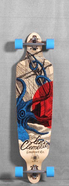 """San Clemente 40"""" Kraken Longboard"""