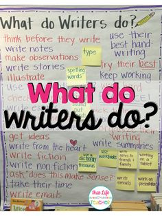 Writer's Workshop: What Do Writers Do?