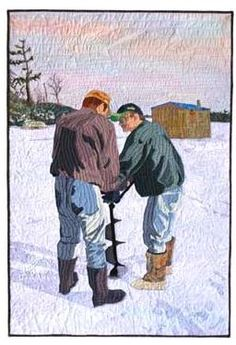 Ice fishing http://www.amazon.com/The-Reverse-Commute-ebook/dp/B009V544VQ/ref=tmm_kin_title_0