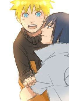 My heart kinda flutters when I see the way Sasuke looks at Naruto in this photo and all I can think is 'he'd protect Naruto with everything in him' X3