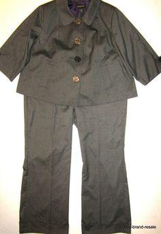 882317f86f534 LANE BRYANT Pant SUIT Set Womens PLUS 20 2X Brown Gray Career 2pc Blazer  Pants  LaneBryant  PantSuit