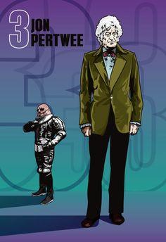 Doctor Who  Jon Pertwee & Sontaran  18 x 12 Digital by DadManCult, $12.99
