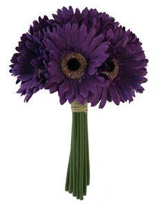 Purple Daisy Bouquet  Bridal Wedding Bouquet by TheBridesBouquet.com $9.99