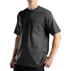 Dickies Men's Big & Tall Short Sleeve Performance Wicking Pocket T-Shirt- Black Xxxl Tall