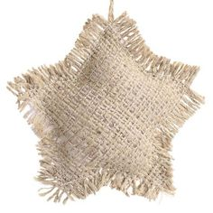 burlap+crafts | Jute Burlap Star Ornament - Christmas Ornaments - Christmas and Winter ...
