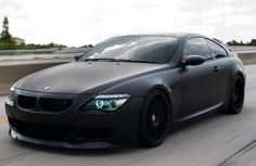 matte black #BMW M6. BMW's are my favorite. I would sell a kidney ...
