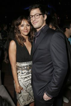 Rashida Jones and Andy Samberg at Celeste and Jesse Forever after party