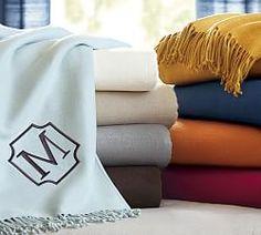 Monogrammed Bedding & Bed Linens, Monogram Bedding Shop   Pottery Barn
