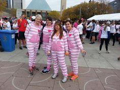 Pink pajamas in Edmonton, AB! #CIBCRunForTheCure