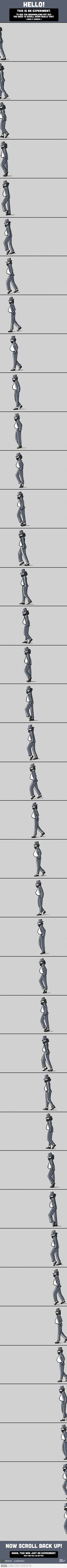 Moonwalk Experiment...so cool