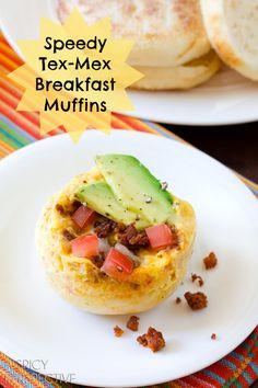 Tex-Mex Breakfast Muffins | ASpicyPerspective.com #realcaliforniamilk #breakfast #kidfriendly