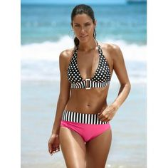 SHARE & Get it FREE | Halter Spliced Polka Dot Women's Bikini SetFor Fashion Lovers only:80,000+ Items·FREE SHIPPING Join Dresslily: Get YOUR $50 NOW!