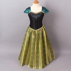 La-Reine-Des-Neiges-Elsa-Princess-Disney-Enfants-Costume-Deguisement-Robe 23E+livraison