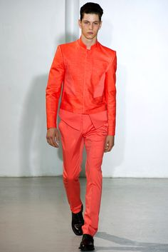 """you could wear all red and NOT look like a pimp."" I'm All In His Closet: REVIEW -- MUGLER - Men's Collection Spring/Summer 2013"
