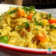 Slimming world free savoury rice Rice Recipes, Vegetable Recipes, New Recipes, Vegetarian Recipes, Cooking Recipes, Healthy Recipes, Recipies, Simple Recipes, Healthy Options