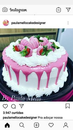Tula hindi nai samja fhir za explain kar muhje t Cupcakes, Cupcake Cakes, Cake Icing, Buttercream Cake, Whipped Cream Cakes, Gourmet Cakes, Dessert Decoration, Just Cakes, Strawberry Cakes