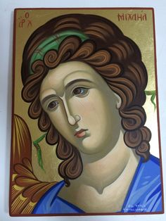 It reflects our real belief in our religious tradition. The icon is prepared with great love and absolute respect. The icon could be a great spiritual gift as well. Archangel Gabriel, Archangel Michael, Byzantine Icons, Spiritual Gifts, Orthodox Icons, Great Love, Disney Characters, Fictional Characters, Greek