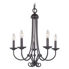 Cornerstone Lighting Williamsport Oil Rubbed Bronze Chandelier | 1505CH/10 | Destination Lighting