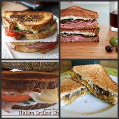 Gourmet grilled cheese recipes... would be yummy with soup this winter!
