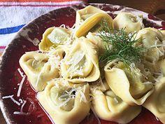 Tortellini Spinaci mit Fenchelspitzen und Parmesan  #Bologna #Fenchel #Hartweizengrieß #italienisch #Olivenöl #Parmesan #Spinaci #Tortellini