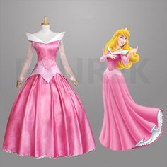 Disney Movies Sleeping Beauty Princess Aurora Dress