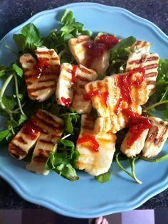 Halloumi with sweet chilli sauce, nigella lawson recipe