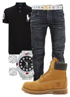 """""""Ice Cube- Today Was A Good Day"""" by young-rich-nvgga ❤ liked on Polyvore featuring Asprey, Polo Ralph Lauren, Rolex, Balmain, Timberland, MCM, men's fashion and menswear"""