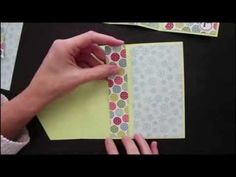Create a unique card fold. For step by step still pictures, supply list and measurements as well as more tutorials visit http://www.splitcoaststampers.com/re...