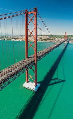 Lisbon Portugal, Golden Gate Bridge, Hotels, Instagram, Travel, Money, Viajes, Silver, Destinations