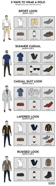 5 Ways To Wear A Polo Infographic