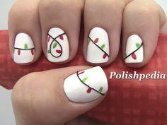 Christmas Lights!  Who loves these?    Watch The Video Tutorial @ http://www.polishpedia.com/christmas-lights-nail-art.html