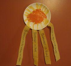 Little Ray of Sunshine! Sentence writing craftivity for preschool/kindergarten Sentence Writing, Writing Sentences, Teacher Hacks, Teacher Stuff, Teaching Strategies, Teaching Ideas, Writer Workshop, Workshop Ideas, Spelling Homework