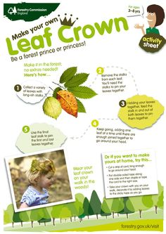 Radical Readers February 2016 Make a leaf crown for character costumes for Midsummer Night's Dream Forest School Activities, Nature Activities, Autumn Activities, Learning Activities, Activities For Kids, Outdoor Activities, Outdoor Crafts, Outdoor Education, Outdoor Learning