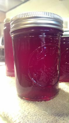 7 cups of berries Wild Muscadine Grape Jelly. Grape Recipes, Jelly Recipes, Jam Recipes, Yummy Recipes, Yummy Food, Muscadine Recipe, Muscadine Jelly, Jam Maker, Jelly Maker