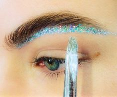 Glitter eyebrow // MAC