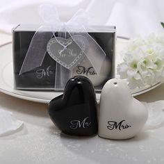 """Mr. & Mrs."" Ceramic Salt & Pepper Shakers – USD $ 2.81"
