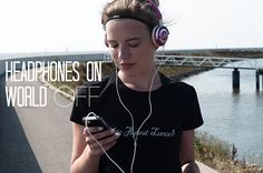 FITSTERS IN LAW: Headphones on, World off running motivation hardlopen koptelefoon work out training nike skullcandy lowrider iphone music NTC sweat quotes quote fitster fitspo girlpower fit girl