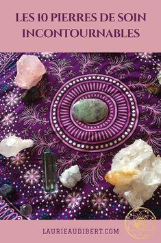 Les 10 pierres de soin incontournables / Lithothérapie / Laurie Audibert, Coach Holistique pour Entrepreneuses spirituelles.