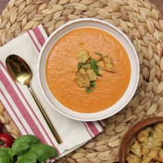 Vegetable soup made in a blender is the yummiest low-effort comfort food.