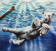 Helpless, Liam Cross, Watercolor-Pitt Pastels- Gel Pen-Fine Liner,  34cm x 48cm