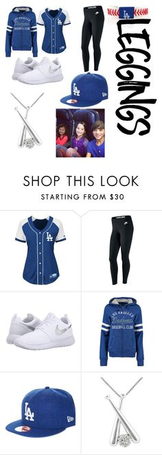 """""""B2S: Baseball Player"""" by the-only-cara7official ❤ liked on Polyvore featuring Majestic, NIKE, Soft as a Grape, New Era, Jewel Exclusive, GameWear, Leggings, WardrobeStaples, RIPcaleblogan and celebratelife"""