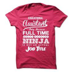 Educational Assistant Ninja Tshirt