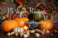 15 Delicious Thanksgiving Recipes #vegan #gltuenfree